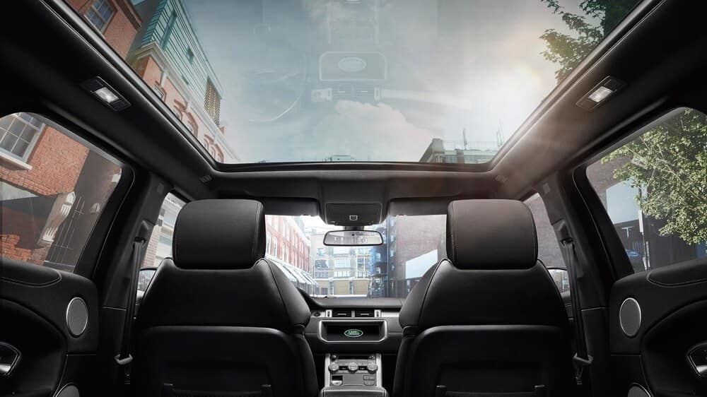 2018 Land Rover Range Rover Evoque interior panoramic roof
