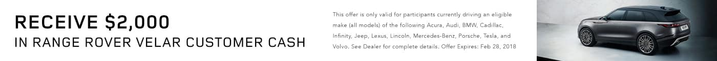 Land Rover Velar Cash Land Rover Darien