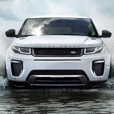 2019 Range Rover Evoque Driving Through Water