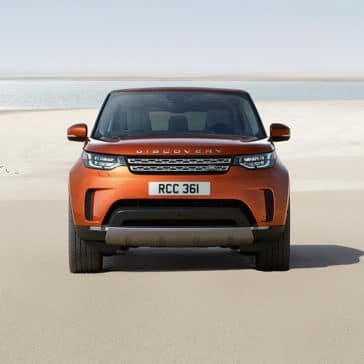 2019 Land Rover Discovery Parked on a Beach