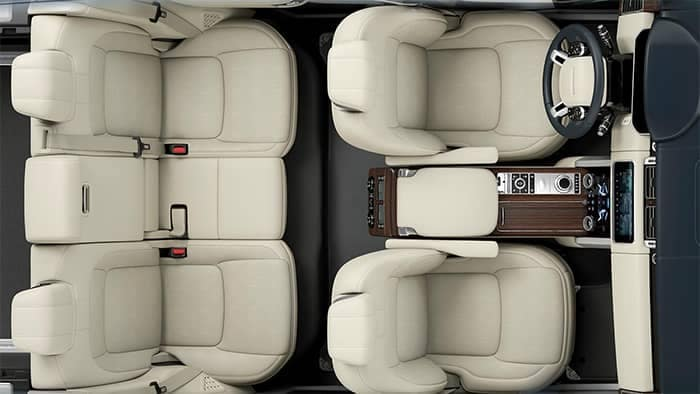 2019 Land Rover Range Rover Interior Seating Top View