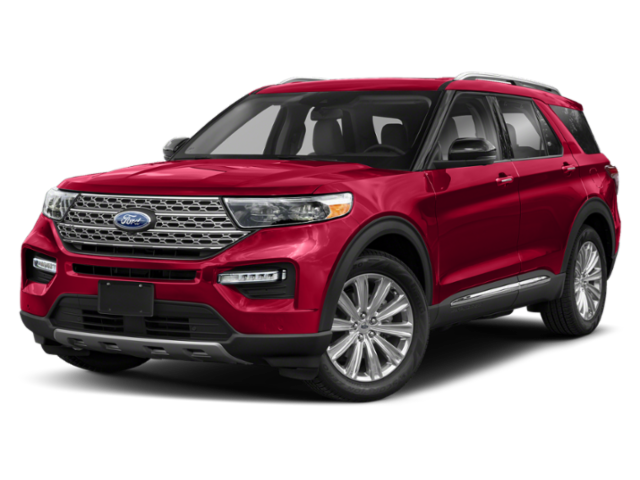 2020 Ford Explorer red