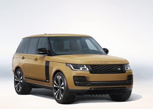 gold range rover
