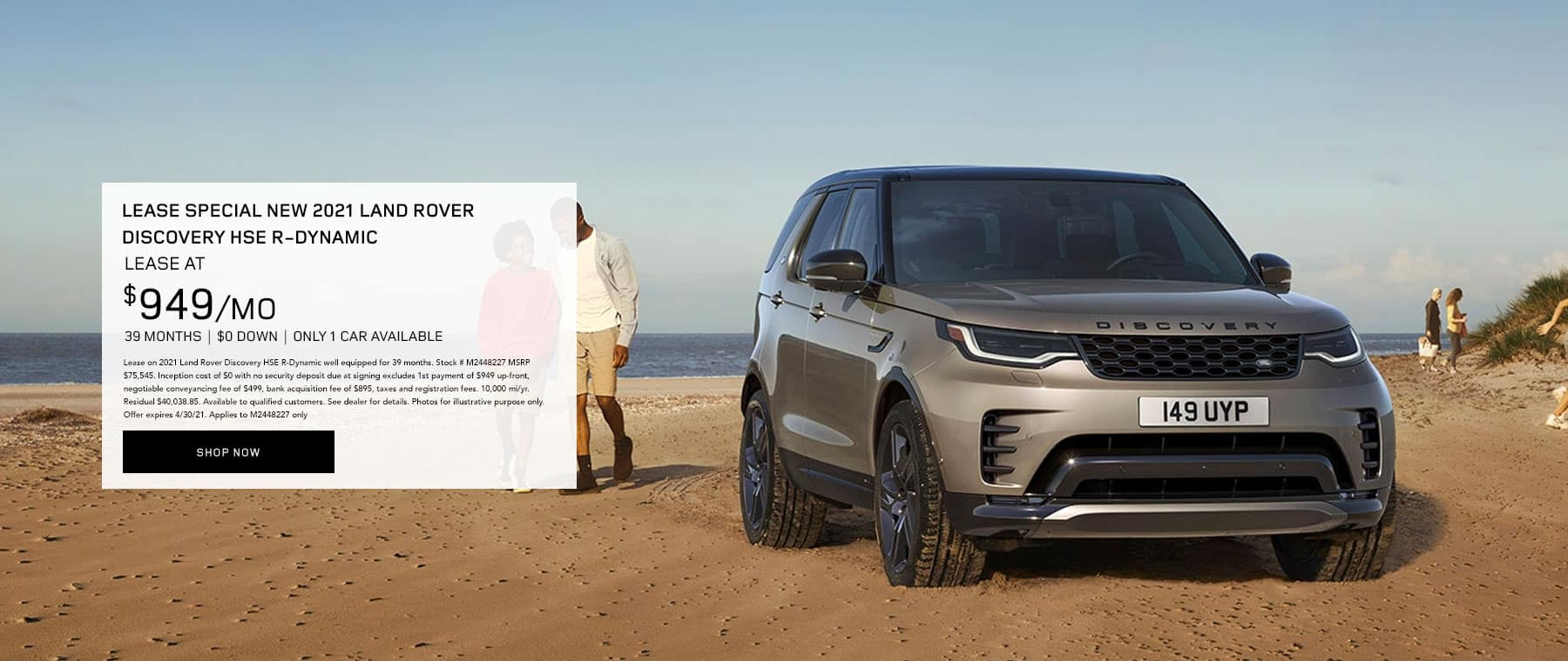LEASE SPECIAL 2021 Land Rover Discovery HSE R-Dynamic – only 1 car available