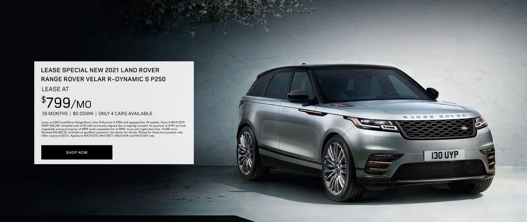 LEASE SPECIAL 2021 Land Rover Range Rover Velar R-Dynamic S P250