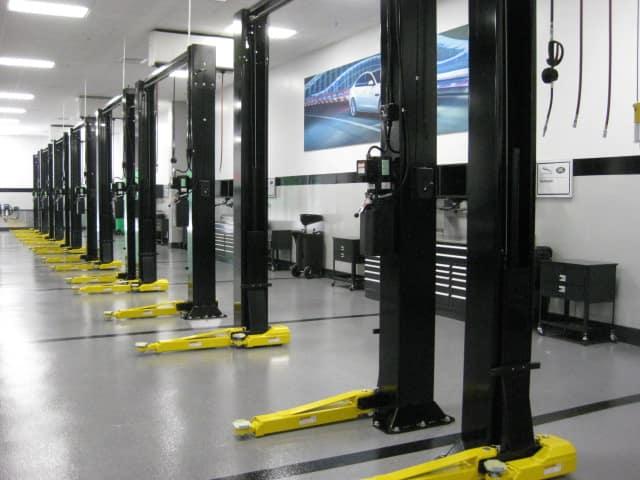 car lifts at service center