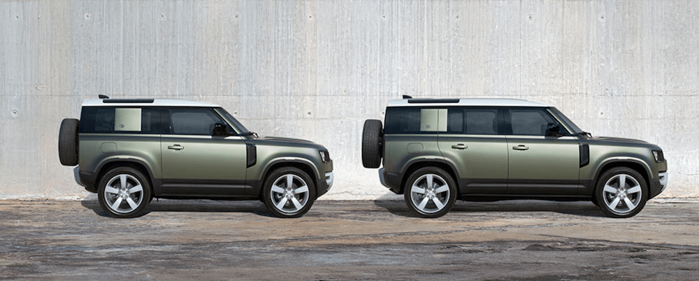 2020 Land Rover Configurations parked next to concrete wall