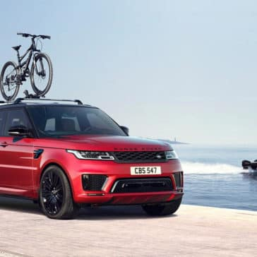 2018 Land Rover Range Rover Sport with bike rack