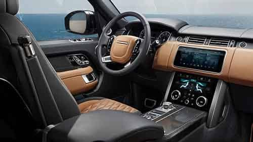 Front Interior Seating and Dashboard of 2018 Land Rover Range Rover