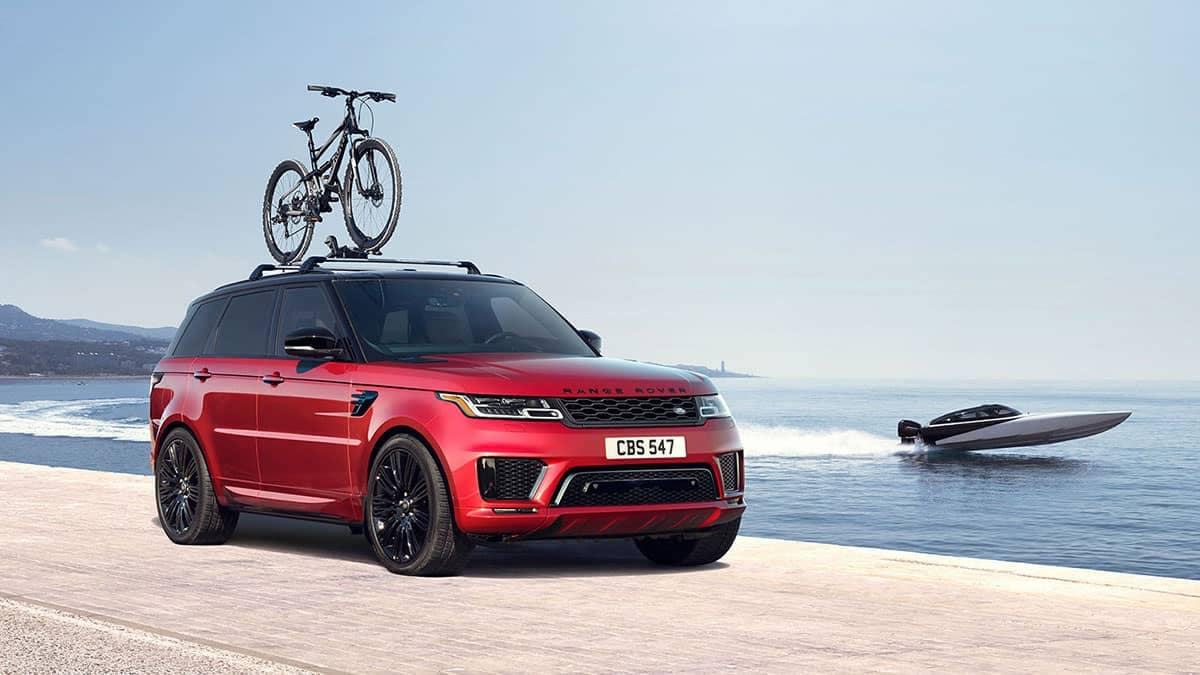 2019 Land Rover Range Rover Sport with Bike on Roof Rails