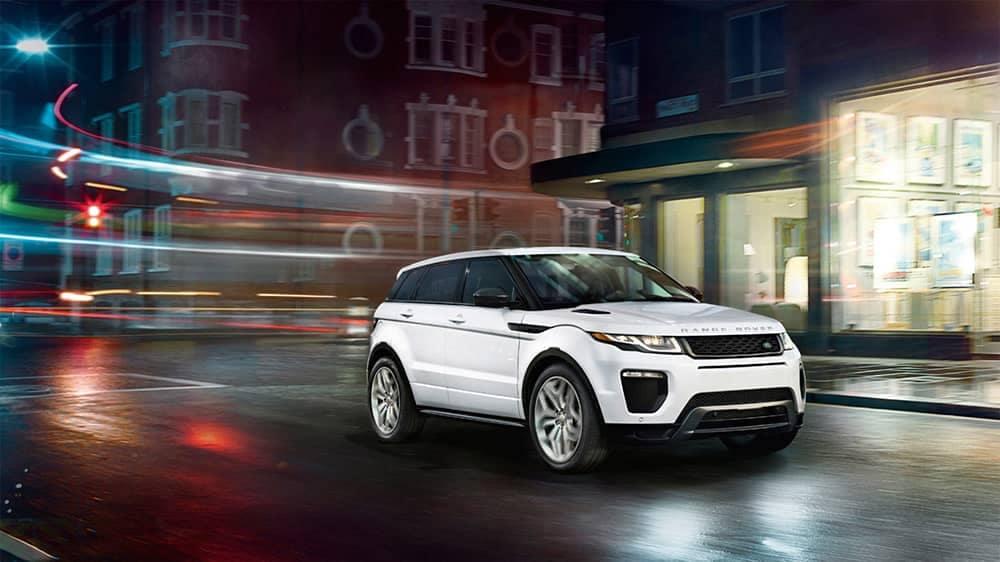 2019 Range Rover Evoque Driving Through the City