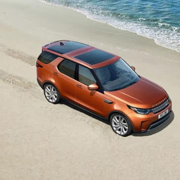 2019 Land Rover Discovery Driving on a Beach