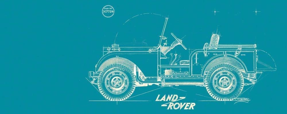 blueprint of old land rover model