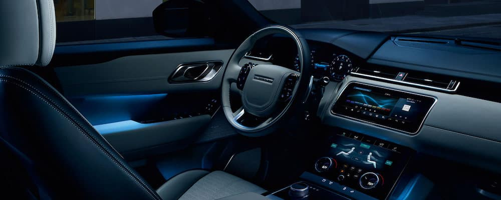 2019 Range Rover Velar interior with ambient lighting
