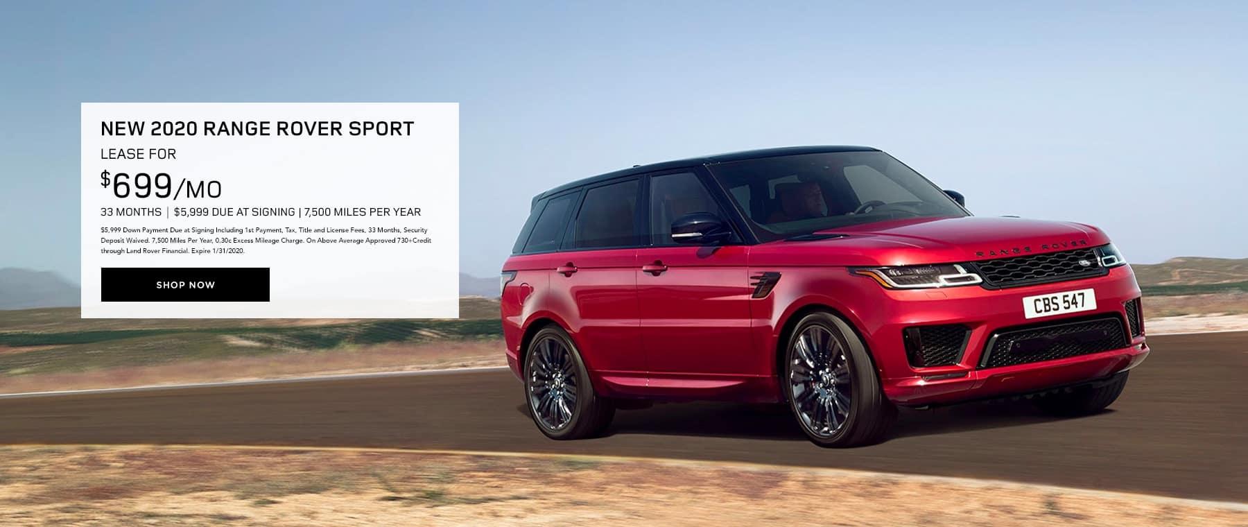 Lease New 2020 Range Rover Sport
