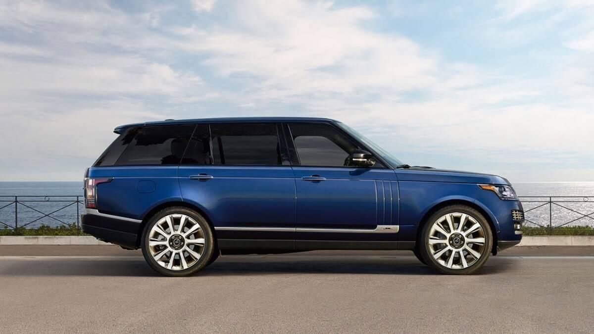 2017 Land Rover Range Rover blue exterior model
