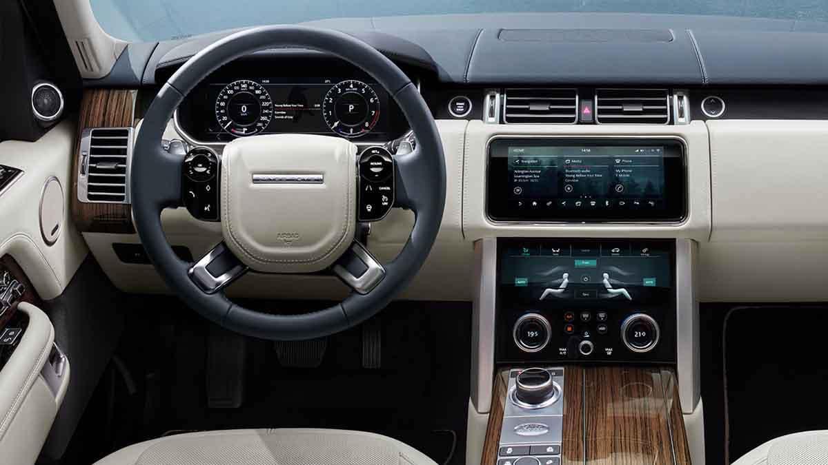 2018 Land Rover Range Rover front interior