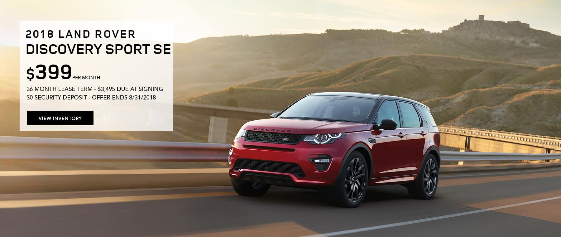 Discovery Sport Lease Offer Banner