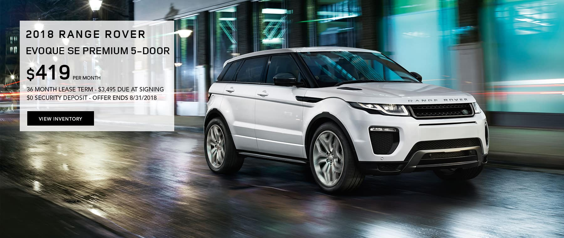 Evoque Lease Offer Banner