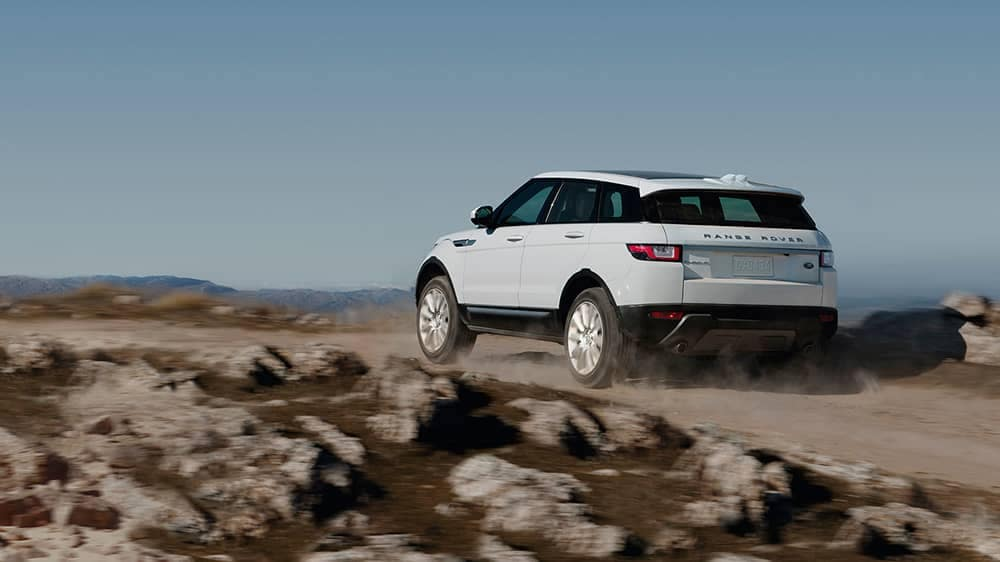 2019 Range Rover Evoque Off-Roading on a Gravel Path