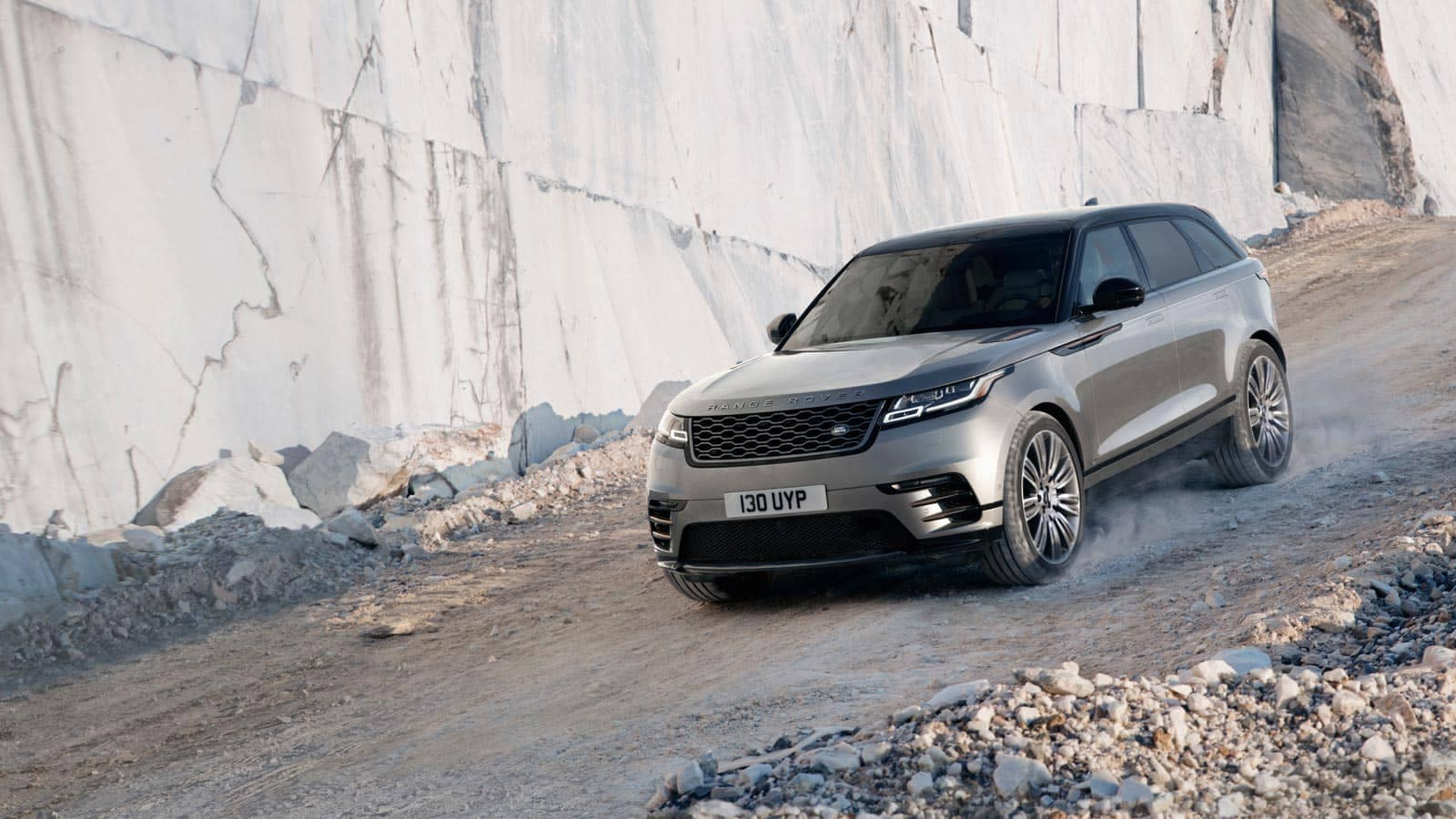 2019 Land Rover Range Rover Velar Off-Roading Down Rocky Mountain Hill