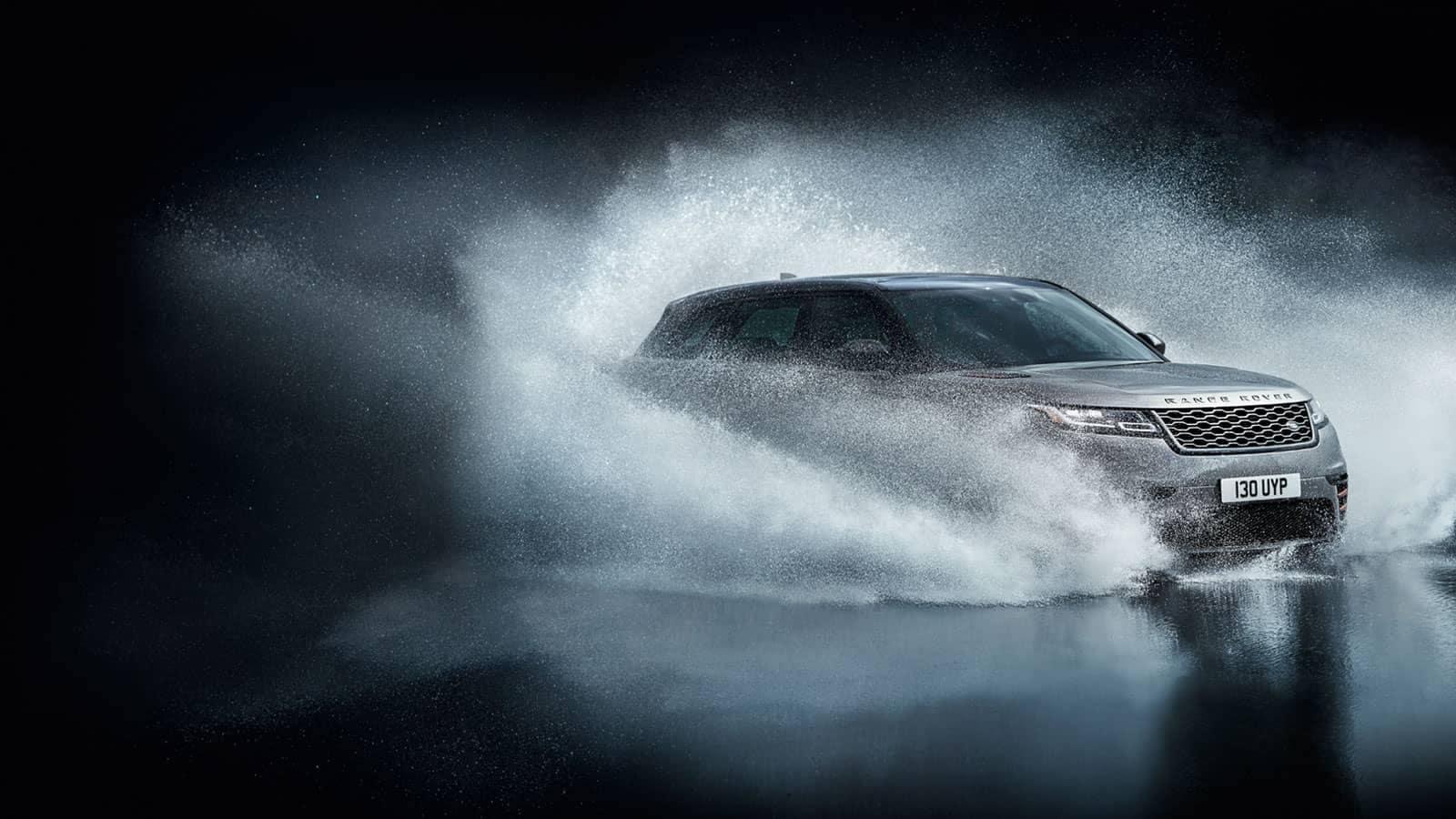2019 Land Rover Range Rover Velar Driving Through Water