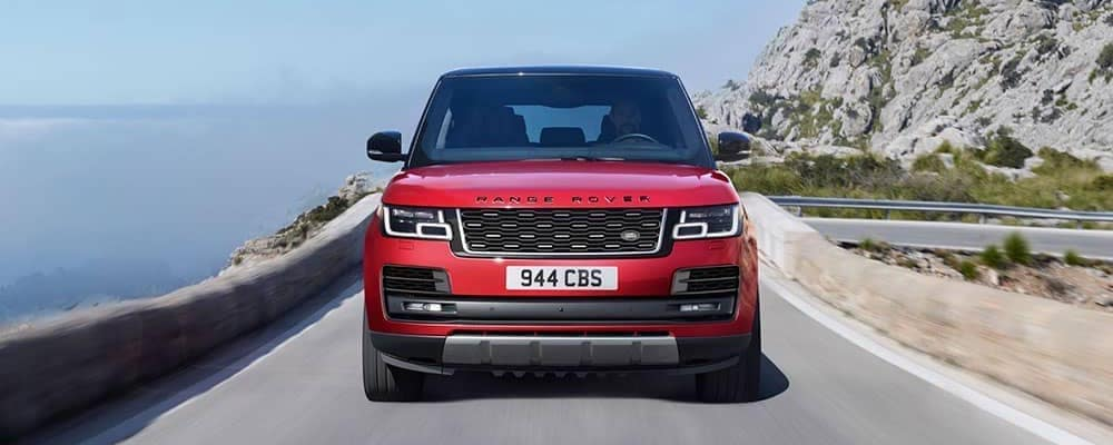 2019 red range rover exterior