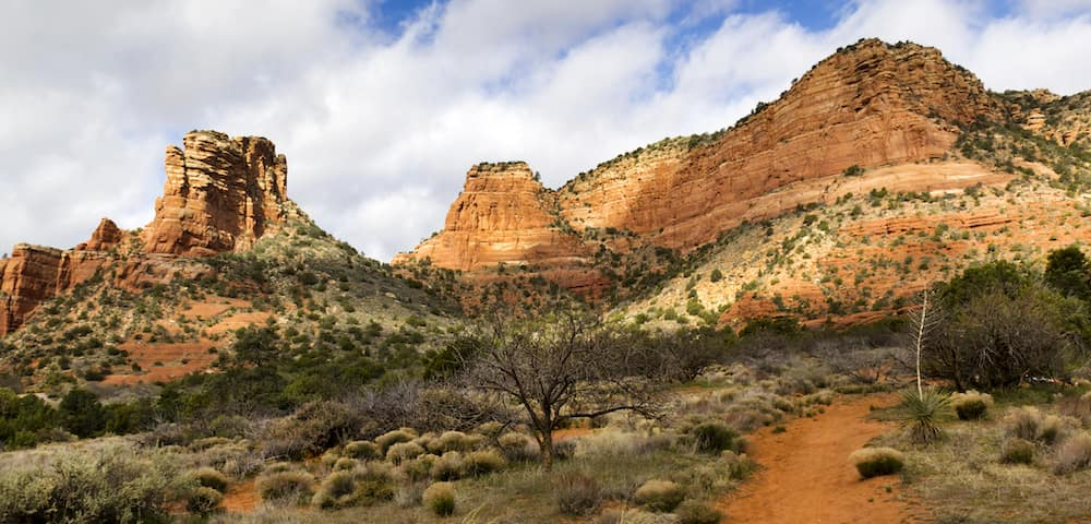 desert hiking landscape