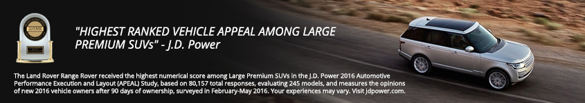 Range Rover JD Power Associates Award