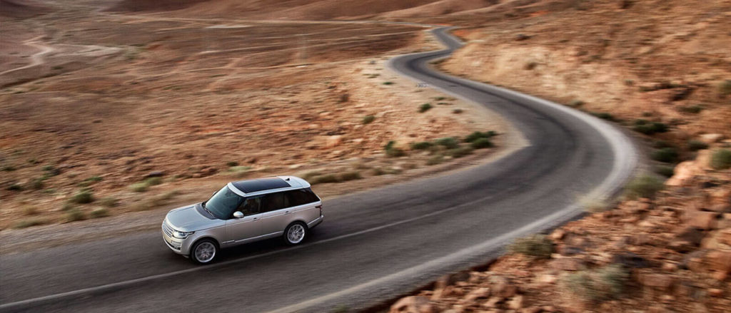 2017 Land Rover Range Rover in the desert