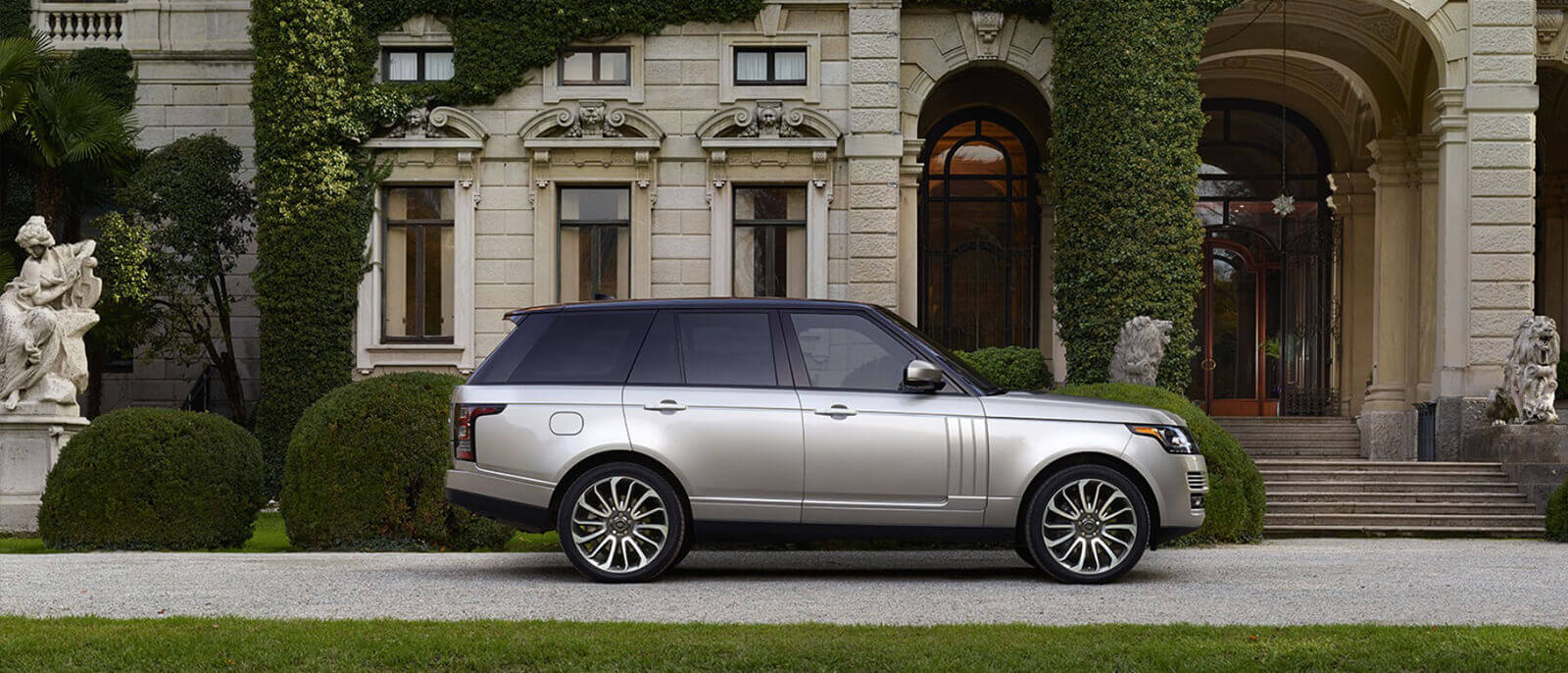 2017 Land Rover Range Rover profile view in the city