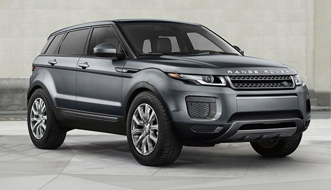 2017 Land Rover Evoque SE parked