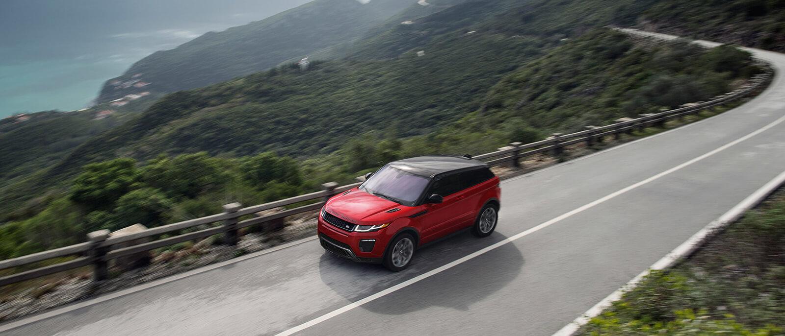 2017 Range Rover Evoque driving