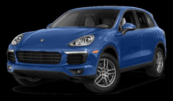 2017 Porsche Cayenne blue exterior model