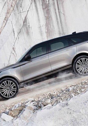 2018 Range Rover Velar on icy road