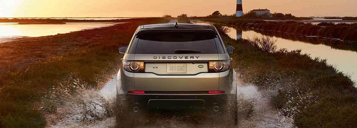 2018 Land Rover Discovery Sport Off Roading through Water banner