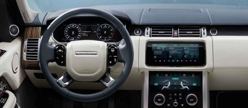 2018 Land Rover Range Rover Interior Dashboard Features banner