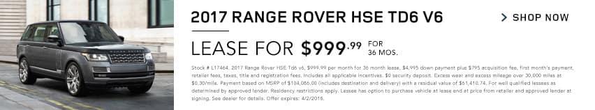 2017 Range Rover HSE Td6 v6