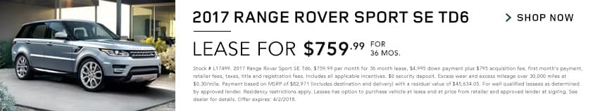 2017 Range Rover Sport SE Td6
