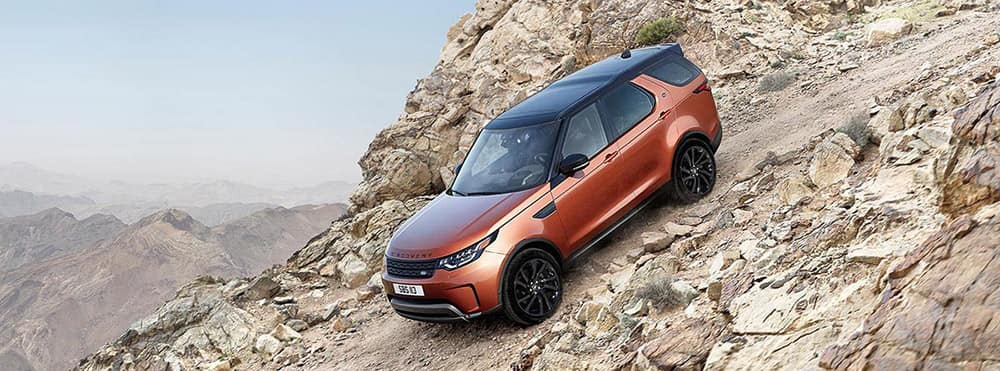 2018 land rover discovery climbing banner