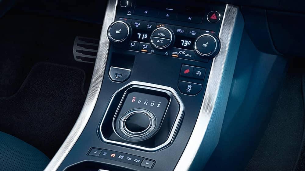 2019 Range Rover Evoque controls