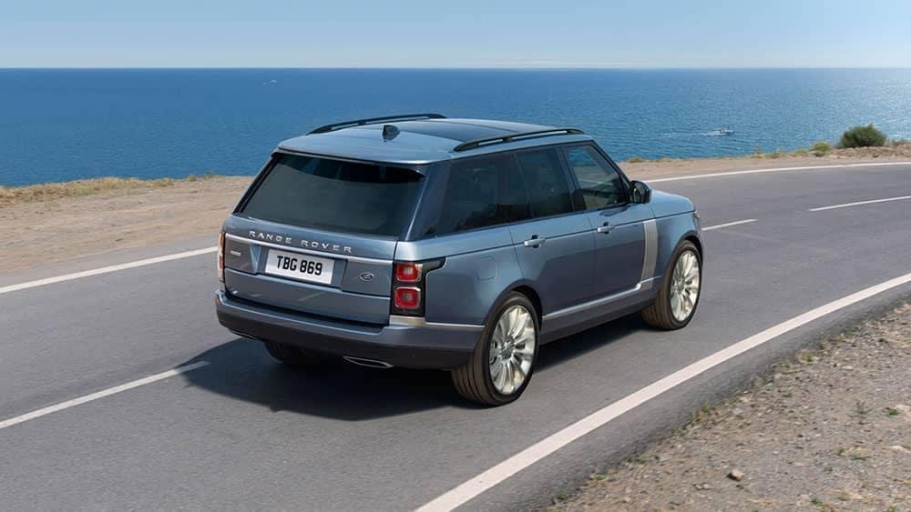 2019 Range Rover on beach road