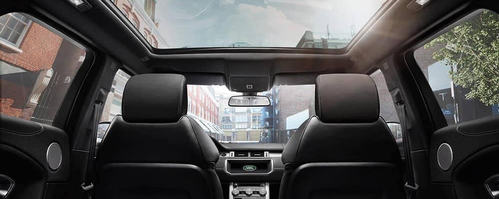 2019 range rover evoque interior with panoramic roof