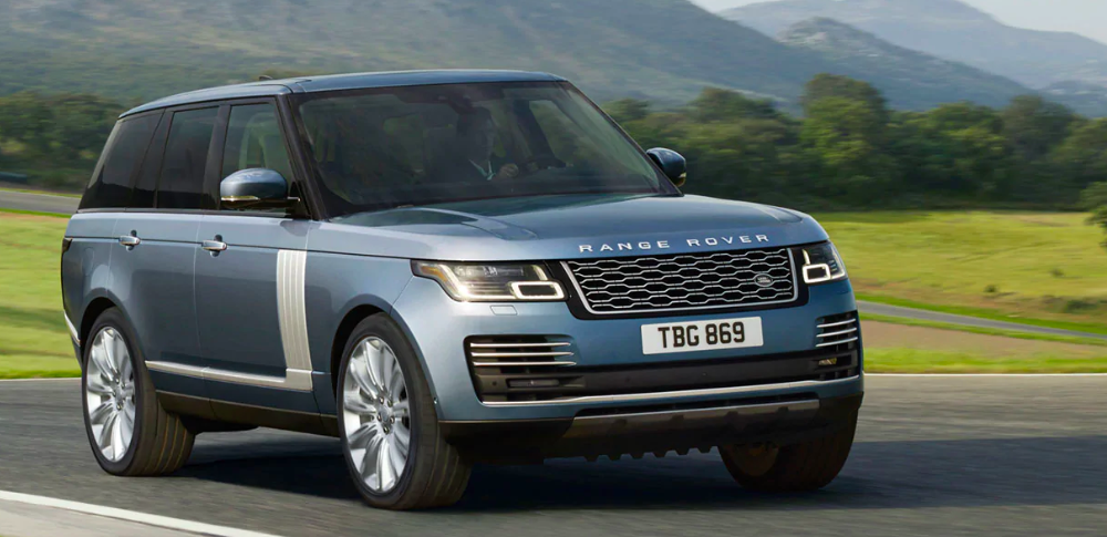 2019 Range Rover On a Road