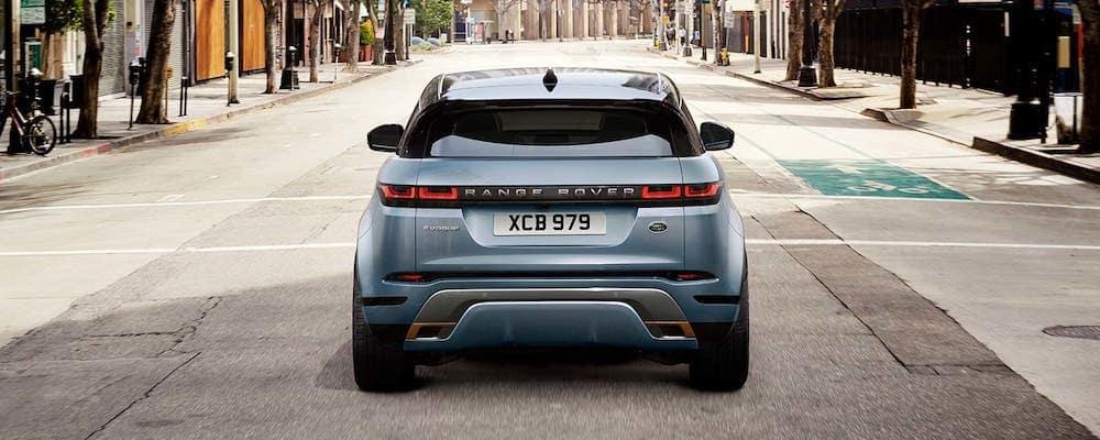 2020 Range Rover Evoque First Edition in Nolita Grey parked on city street