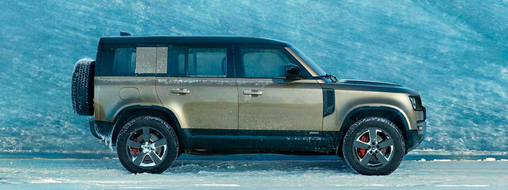 Exterior profile view of a 2020 Land Rover Defender