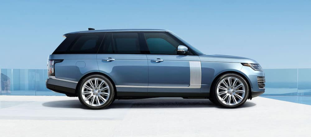 Exterior profile view of a 2020 Land Rover Range Rover