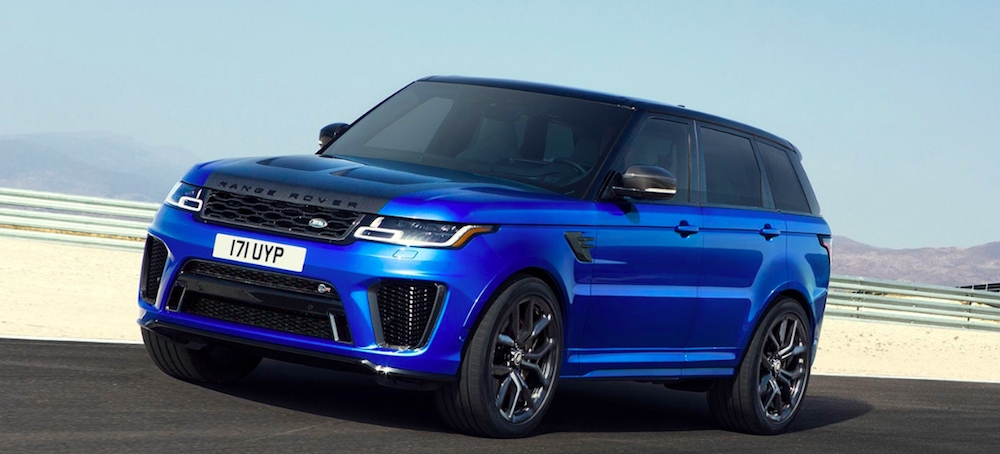 Profile Shot of a 2020 Range Rover Sport Driving on an Open Road