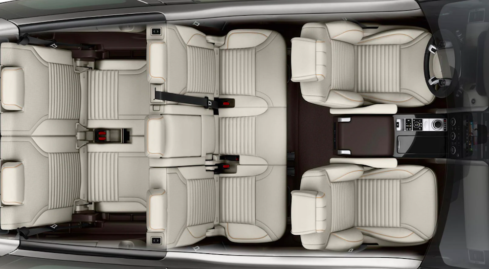 Seating for 7 inside a 2020 Land Rover Discovery