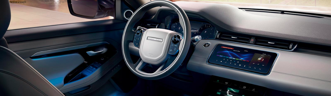 Evoque steering wheel and interior